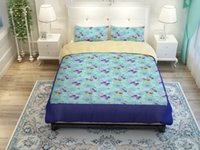 spring flower duvets - Spring flowers Duvet Cover Set PC PC Quilt Cover Pillowcase Twin Queen King designs can choose