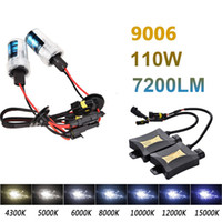 2pcs 9006 55W carro de feixe único HID Xenon Lamp 4300K ​​6000K 8000K Xenon HID Light Set Sigle Beam DC330 Headlight