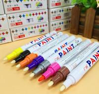 marker stift auto farbe großhandel-1 Satz 12 Stücke Universal Wasserdichte Permanent Paint Marker Pen Autoreifenprofil Gummi Metall