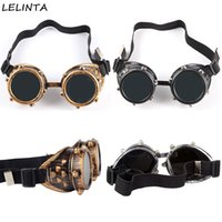 Wholesale Mixed Nuts - Wholesale- LELINTA Screw nut Decoration Vintage Steampunk Goggles Glasses Welding Punk Gothic Cosplay Welding Party