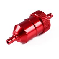 "Wholesale Dirt Bike Fuel Filter - Red Color Universal 6MM 1 4"" Petrol Gas Fuel Filter Cleaner For Motorcycle Pit Dirt Bike ATV"