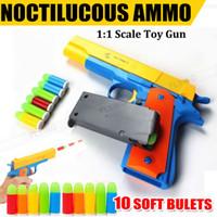 Wholesale Bullets Soft - New Toy Gun Pistol & Soft Bullets Realistic 1:1 Scale OZ