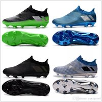 Wholesale Slip Shoes Sport - 2017 Messi 16+ Pureagility FG AG Football Shoes Men Soccer Cleats Top Quality For Sale Men's Soccer Shoes Cheap Sports Shoes Free Shipping
