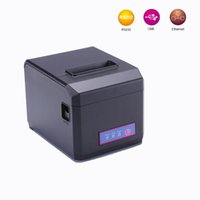 Wholesale Pos thermal mm receipt printer usb serial lan interface also support mm paper restaurant bill machine with cutter oilproof
