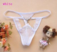 Wholesale Thongs Womens Girls - 30pcs T45 Sexy Womens Thong Panties Girls pearl Underwear Briefs Sexy Comfortable Mix Colors Order