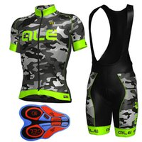 Wholesale Cycle Top Bib Shorts - 2017 ALE Team Bicycle Clothing Bike Clothes Ropa Ciclismo Hombre Cycling Jersey Bicycle Tops Bike Cycling Bib shorts set F1304