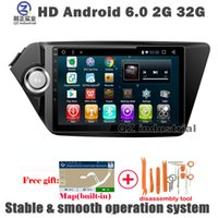 Wholesale Free Kia Rio - QZ industrial 9inch HD Android 6.0 for KIA Rio k2 car DVD Multimedia player with 3G 4G WIFI GPS BT SWC Navi Radio free map