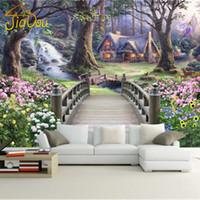 Wholesale Backdrop Fantasy - Wholesale-Fantasy Wonderland 3D Stereoscopic European TV Backdrop Wallpaper Bedroom Living Room Custom Large Landscape Mural Wallpaper