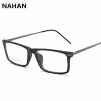 d2cda87d27 Wholesale- Square TR90 Optical Eyewear Frame Glasses Brand Designer Plastic Titanium  Eyeglasses Women Eyeglass Frame Plain Mirror Frame