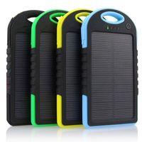 double banque d'énergie solaire achat en gros de-Le meilleur Double USB 5000mAh Chargeur Portable étanche à l'énergie solaire de la Banque de Voyage Voyage Enternal Batterie Powerbank pour iPhone Android téléphone