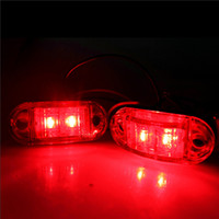 Wholesale Led Trailer Marker Lights Amber - Brand New 12V LED Emergency Lights 24V Side Marker Lamp For Car Truck Trailer