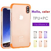 Wholesale Tpu Hard Pc Case Lg - Ultra Thin Full Protection 3 in 1 Case Hard TPU+PC Cell Phone Case for iPhone X 8G 7plus 6splus note 8 Phone Case