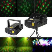 Al por mayor- 6 en 1 Star Ring Laser Projector LED Mini Stage Light Night Tripod Party Club Show DJ Bar Disco de la etapa de boda iluminación del hogar