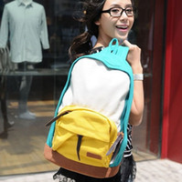 block travel bags - stacy bag hot sale women canvas backpack student preppy style casual travel backpack school bag color block travelling bag