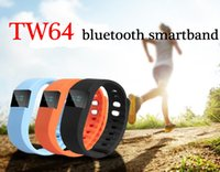 Wholesale fit watches - Waterproof IP67 Smart Wristbands TW64 bluetooth fitness activity tracker smartband pulsera wristband watch not fitbit flex fit bit Free Ship