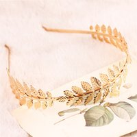 Ouro / Silver Plated Metal Leaves Headband Mulheres Elegant Baroque Style Charm Hair Accessories Hairband diademas para mujer