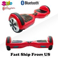 Bluetooth Hoverboard 6,5 pouces Ship From US Scooters électriques Smart Balance Roue Drifting Board Scooter équilibré Scooter Skateboard On Sale