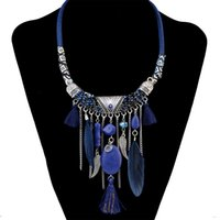 Wholesale Good Luck Coins - Bohemian Good Luck Cluster Evil Eye Hamsa Hand of Fatima and Coins Tassel Statement Necklace Turkish Gypsy Ethnic Tribal Jewelry