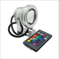 Wholesale dc spotlight - LED lights waterproof landscape lights 10W RGB LED underwater light IP68 aluminum housing AC DC 12V spotlight