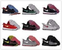 Wholesale Kd Low Tops - 2016 Hot Sale KD 9 Kids Basketball Shoes Boys Kevin Durant Children Top quality Sports Sneakers Children's Size 36-40