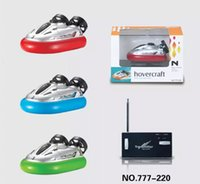 Wholesale Toy Submarines Radio Control - RC Hovercraft Mini Boat 6 Channel radio control hovership electronic Toys Mini RC Racing Speedboat for kids toys