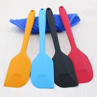 Wholesale Heat Resistant Coatings - Silicone Spatula Scraper Heat Resistant Kitchen - Dishwasher And Oven Safe-With Hygienic Solid Coating Mult Color Creative Bbq Brush Tools