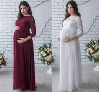 Maxi Dresses maternity clothing - New Maternity Lace Dress Women Clothes Photography Props Elegant Pregnant Dress Maternity Long Dress Pregnancy Photo Shoot