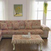 Wholesale Korean Bedspreads - Unique Sofa Pillow Couch Cushion Cover Towel Slipcovers Pastoral Style Furniture Protectors Cotton Four Seasons Mat Carpet Blanket Bedspread