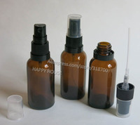 Wholesale Wholesale Amber Glass Spray Bottles - 360 x 30ml Amber Glass Oil with Tamper Evident Plastic Spray Atomizer, 30 cc Fragance bottle