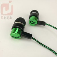 Wholesale Wire Braided Sale - common cheap serpentine Weave braid cable headset earphones headphone earcup direct sales by manufacturers blue green 1000ps lot