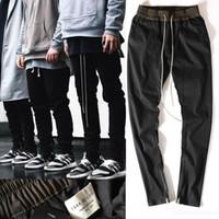 Wholesale korean fashion hot pants - HOT chinos joggers korean mens european urban clothing black kanye west justin bieber harem dress zipper track pants fear of god