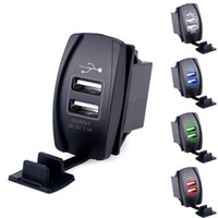 Atacado Universal Universal Dual USB Car Charger Adaptador de Alimentação 5V 3.1A 2 USB Socket Auto Carregador para iPhone 5 6 6S Ipad Samsung Tablet Car-Charger