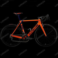 Wholesale Carbon Bike Seat Clamp - High Quality HQR27 Disc Brake Road Bicycle Frame+Fork+Seat Post+Clamp+Headset+bb30 or bb68 Adapter Size XS S M L XL 6 Colors Available