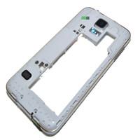 galaxy s5 orta çerçeve toptan satış-OEM Orta Çerçeve Çerçeve Arka Arka Konut ile Konut Yedek Samsung Galaxy S5 G900 G900A G900T G900P G900 G900F ücretsiz DHL