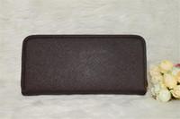 Wholesale Iphone Card Clutch - New Fashion women brand wallets famous designer female wallet single zipper Cross pattern clutch multifunction purse For Iphone