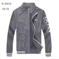 Wholesale Stand Up Collar Jackets - 2018 New fashion Men stand up jacket, elastic cuffs fashion man jacket Embroidery letters B0SS size M L XL XXL