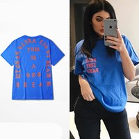 Wholesale Printed Season Tshirt - Wholesale- 2016 SUMMER Unisex Season 3 I Feel Like Pablo TEE The Real Life Of Pablo kanye Tshirt red blue black white S-XXXL