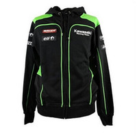 Wholesale Wholesale Sweat Jackets - Wholesale- 2017 NEW VR46 Moto GP Sale KAWASAKI team Por Fuera Hooded Sweat MotoGp Men Casual Sweatshirts Cotton Kawasaki Jackets Coat