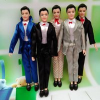 Wholesale Male Dolls For Girls - 5 Set Lot Male Dolls Clothes Mix Style Clothes For Prince Ken Fashion Outfit Clothes For Ken Male Dolls Accessories Toy Mufti