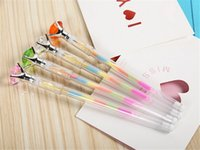 Wholesale Cute Gifts For Students - Mixed Bling Bling Diamond Crystal Rainbow Gel Pen Cute School Gel Pen For Students Kids Christmas Gift