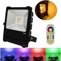 açık renkli çok renkli ışıklar toptan satış-35 W Milight LED Projektörler RGBWW Renkli Su Geçirmez IP65 Dış Aydınlatma Için Açık Otel Bahçe + 2.4G Mi Işık Uzaktan Kumanda
