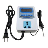 thermostate hitzegekühlt großhandel-Freeshipping Digital vorverdrahteter Temperaturregler Auslass Thermostat Heizung Kühlung AC100-240V
