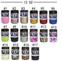 Wholesale 2017 dhl oz oz oz Yeti Rambler Tumbler Bilayer Stainless Steel Insulation Cups Leopard Yeti Camo Skull Flag Mugs Large Capacity