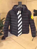 Wholesale Men Wear Thick Winter Outdoor - M2017 brand mon Men Casual Down Jacket Down Coats stripe Mens Outdoor collar Warm Feather dress Winter Coat outwear outer wear JACKETS