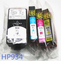 tintas hp al por mayor-Cartucho de tinta compatible YOTAT para HP 934 hp934 HP935 cartucho de tinta de tinte completo para hp Officejet 6812 6815 pro 6230 6830 6835 impresora