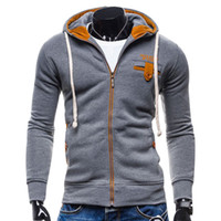 Wholesale Mens Slim Hoodies Wholesale - Wholesale- Fashion Mens Sportswear College Baseball Hoodies Men Sudaderas Hombre Hip Hop Jacket Brand Sweatshirt Slim Fit Men Hoodies F25