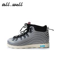Wholesale Lace Up Rain Boots - Wholesale-Native Fitzsimmons Men&Women's Waterproof Ankle Boots Winter Shoes Wholesale 2016A&W Eva Warm Snow Fur Rain Martin Timber Botas