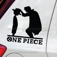 Wholesale Anime Material - Car Stickers One Piece Luffy straw hat cartoon anime reflective waterproof car stickers decorative block decorative decals