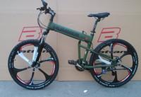 fahrräder großhandel-26-Zoll-Aluminium-Klappradrahmen-Gebirgsfahrrad 21 Geschwindigkeitsscheibenbremsen 4 Farbe wählen freies Verschiffen