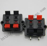 Wholesale foot clamps - Wholesale- 2pcs Four (double side foot   bending) horn clamp speaker audio clip
